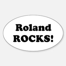 Roland Rocks! Oval Decal