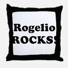 Rogelio Rocks! Throw Pillow