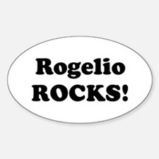 Rogelio Rocks! Oval Decal