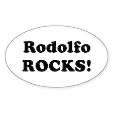 Rodolfo Rocks! Oval Decal