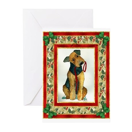 Airedale Terrier Christmas Greeting Cards