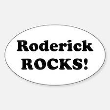 Roderick Rocks! Oval Decal