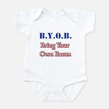 BYOB Bacon Infant Bodysuit
