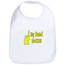 guitar rocks band yellow Bib