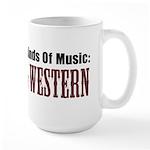 Two Kinds Music Country Western Large Mug