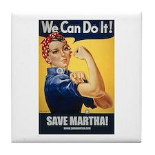 Rosie the Riveter Save Martha Tile Coast