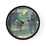 Angus cattle Wall Clocks