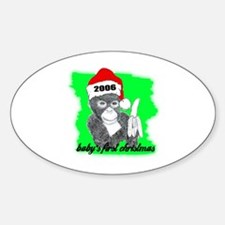 baby's first christmas Oval Decal