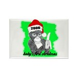 baby's first christmas Rectangle Magnet (100 pack)