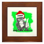 baby's first christmas Framed Tile