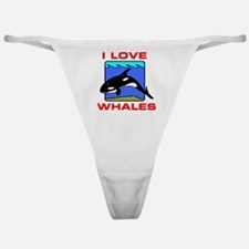 I LOVE WHALES Classic Thong