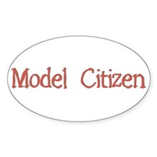 Model Citizen Oval Decal