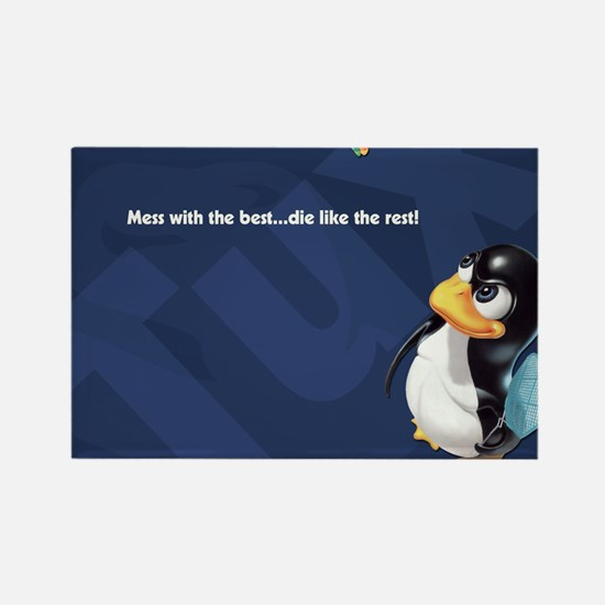 Cool Gnu linux Rectangle Magnet