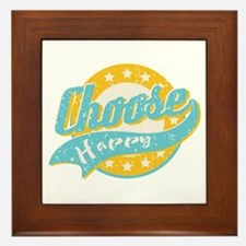 Choose Happy Framed Tile