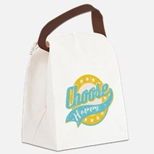Choose Happy Canvas Lunch Bag