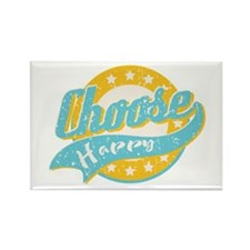 Choose Happy Rectangle Magnet