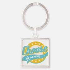 Choose Happy Square Keychain