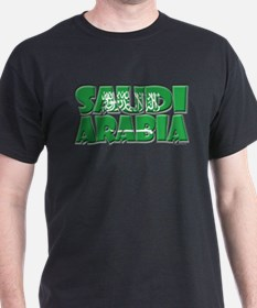 Word Art Flag Saudi Arabia T-Shirt