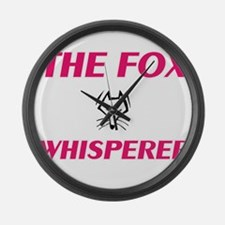 The Fox Whisperer Large Wall Clock