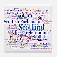 Scottish Independence Concept Cloud Tile Coaster
