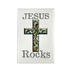Jesus Rocks Rectangle Magnet (100 pack)
