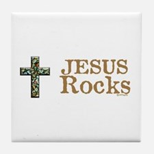 Jesus Rocks Tile Coaster