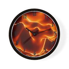 Flames Clock Wall Clock