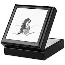 Penquin Feeding Keepsake Box