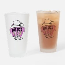 Cowgirl Bride Drinking Glass
