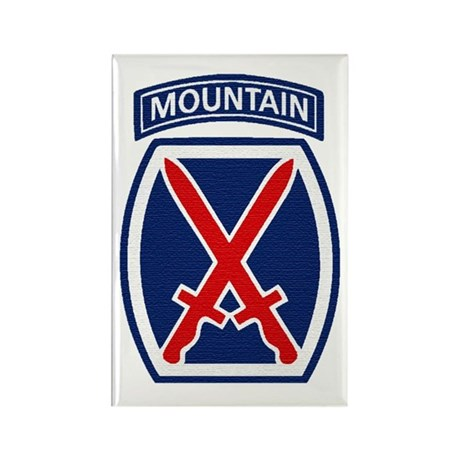 10th Mountain Division Rectangle Magnet (10 pack)
