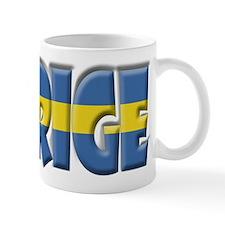 Word Art Flag of Sverige Mug