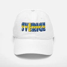 Word Art Flag of Sverige Baseball Baseball Cap