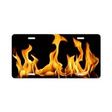 Flames License Plate Aluminum License Plate