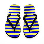 Navy Yellow Blue Flip Flops