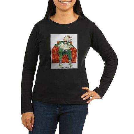 Pig Inquirer Women's Long Sleeve Dark T-Shirt