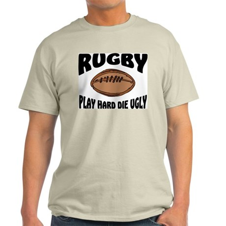 Funny Rugby Ash Grey Light T Shirt Funny Rugby Ash Grey T