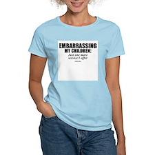 Embarrassing my children -  Women's Pink T-Shirt