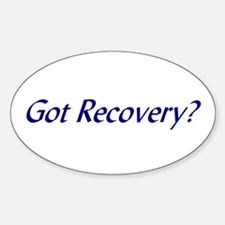 Got Recovery t-shirts & more Oval Decal