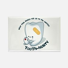 Tooth-Hurty - Dark Text Rectangle Magnet
