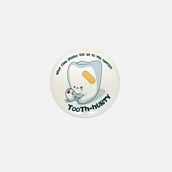 Tooth-Hurty - Dark Text Mini Button