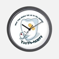 Tooth-Hurty - Dark Text Wall Clock