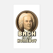 Bach is my Homeboy Rectangle Decal