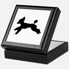 Standard Poodle Running Keepsake Box