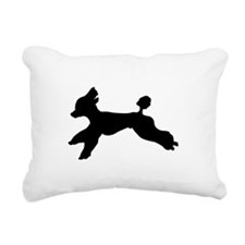 Standard Poodle Running Rectangular Canvas Pillow