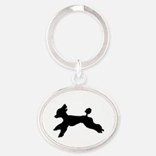 Standard Poodle Running Keychains
