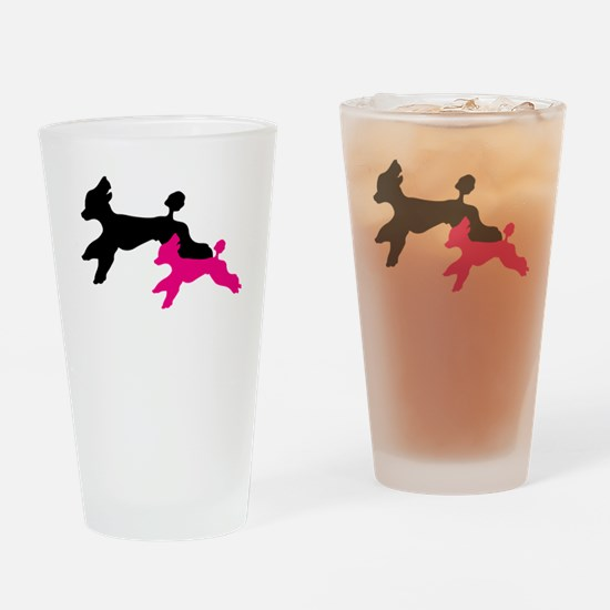 Standard Poodle Running Drinking Glass