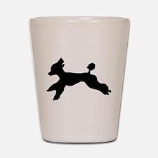 Standard Poodle Running Shot Glass