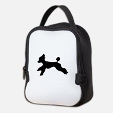 Standard Poodle Running Neoprene Lunch Bag