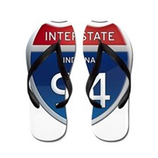Indiana Interstate 94 Flip Flops