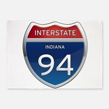 Indiana Interstate 94 5'x7'Area Rug